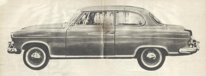 Borgward Isabella de 1960. Foto de la revista Parabrisas de febrero de 1961.
