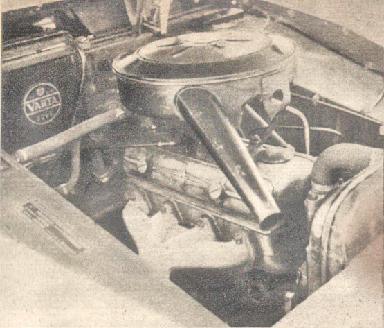 Motor del Borgward Isabella de 1960. Foto de la revista Parabrisas de febrero de 1961.