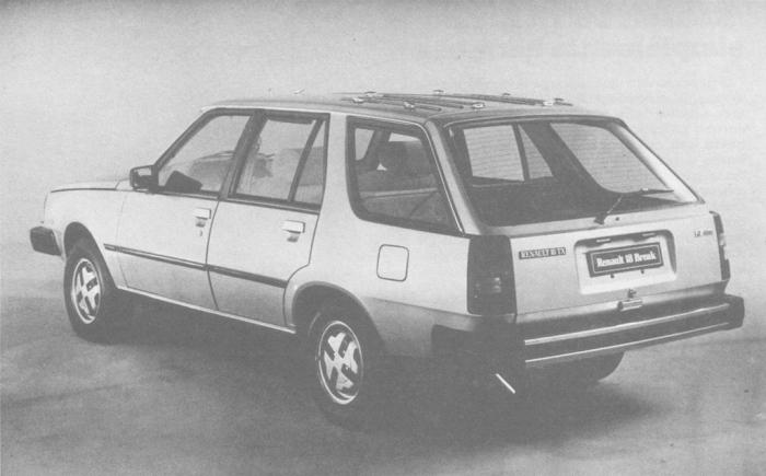 Vista de ¾ de perfil trasero izquierdo del Renault 18 TX Break de 1981. Foto de la revista Su Auto de noviembre de 1981.
