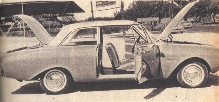 Perfil del Ford Taunus 17 M de 1961. La foto es de la revista Parabrisas de junio de 1962.