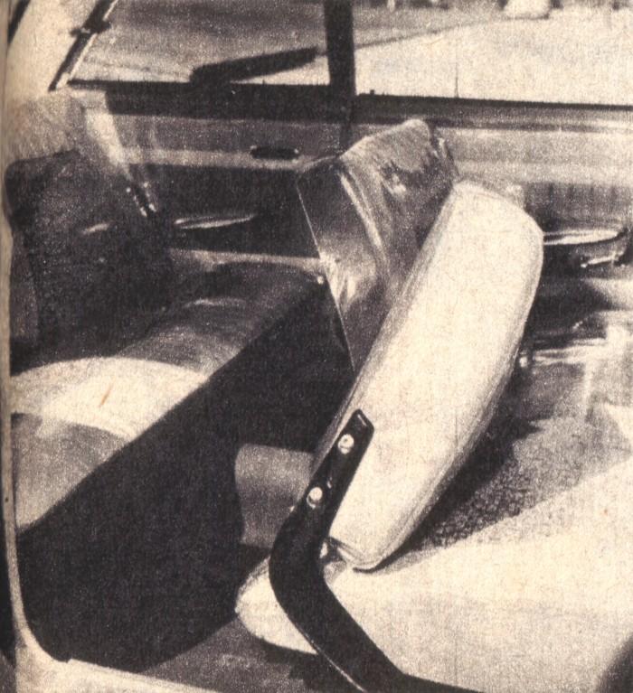 Interior del Ford Taunus 17 M de 1961. La foto es de la revista Parabrisas de junio de 1962