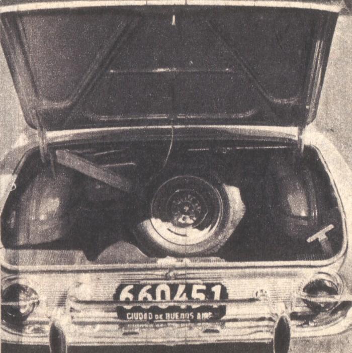 Baúl del Ford Taunus 17 M de 1961. La foto es de la revista Parabrisas de junio de 1962.
