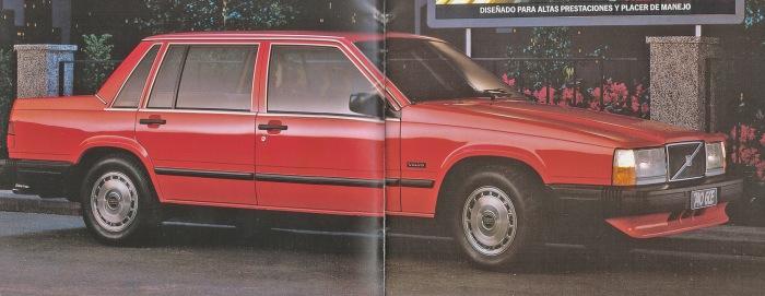 Volvo 740 GLE de 1985. La imagen corresponde a un folleto de la empresa AB Volvo de 1985.