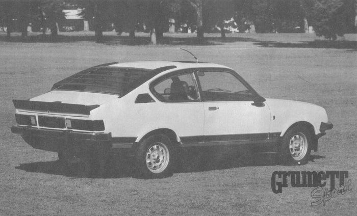 Grumett Sport modelo 1981. La foto fue publicada en la revista Su Auto, número 14 del mes de enero de 1981.