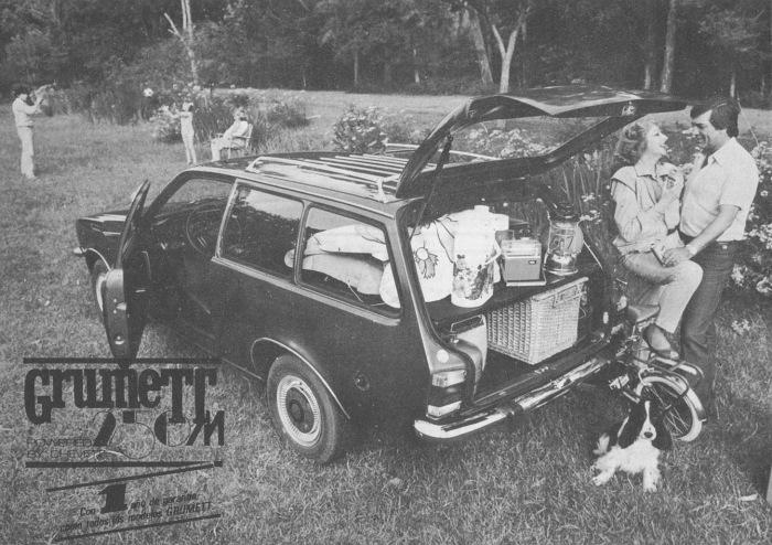 Grumett 250 M modelo 1981. La foto fue publicada en la revista Su Auto, número 14 del mes de enero de 1981.
