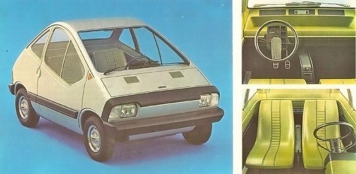 Auto experimental de Fiat presentado en el Salón de Turín de 1972. La fotografía está tomada de la Enciclopedia Salvat del Automóvil, Volumen 2, 1974.