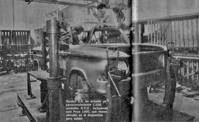 La planta de Nordex SA donde se armaba el NSU Prinz 1000. La fotografía es de la revista Parabrisas 74 de febrero de 1967.