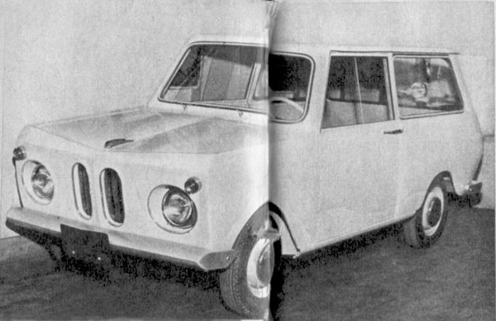 El Terruño Suzulight fabricado en Uruguay con carrocería nacional. La fotografía es de la revista Parabrisas 74 de febrero de 1967.