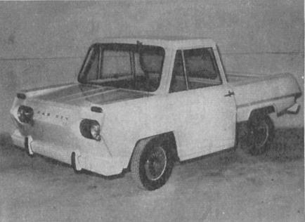 La camioneta Car-Ben de las que solo se fabricaron 28 unidades. La fotografía es de la revista Parabrisas 74 de febrero de 1967.