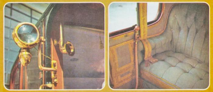 Sistema de comunicación entre los pasajeros y el conductor de un De Dion-Bouton de 1913. Fotos de la Enciclopedia Salvat del Automóvil de 1974.