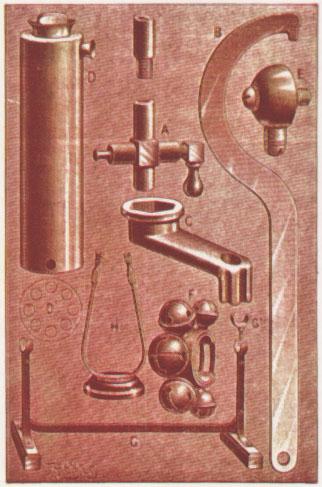 Diferentes accesorios como un precalentador de combustible y un collar para colocar en el volante, entre otros elementos. Fotos de la Enciclopedia Salvat del Automóvil de 1974.