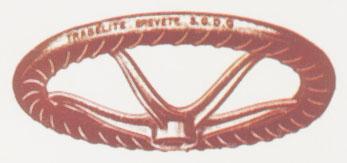 Volante con empuñadura especial. Fotos de la Enciclopedia Salvat del Automóvil de 1974.