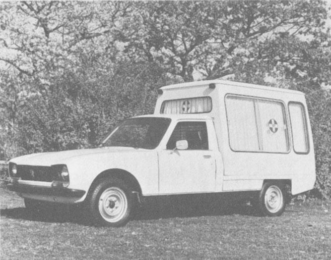 La versión ambulancia Peugeot 504 pick-up de 1981 presentaba en abril de ese año. La fotografía es de la revista Su Auto número 17 del mes de  mayo de 1981.