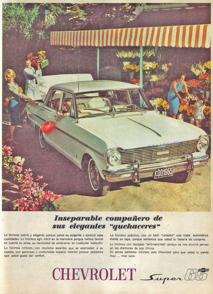Publicidad Chevrolet Super 1965