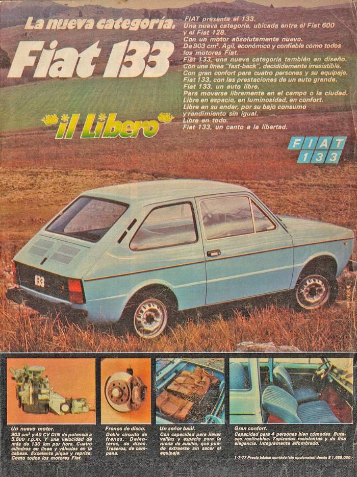 Publicidad Fiat 133