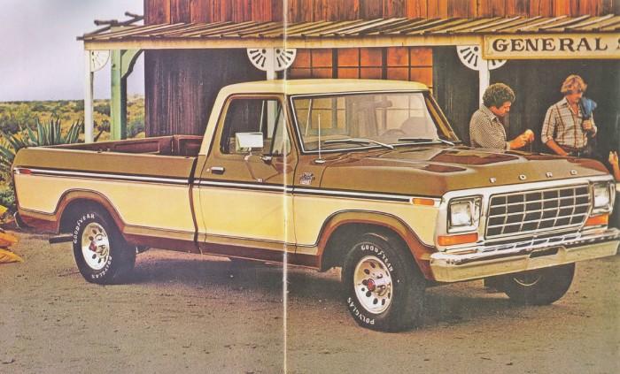 Ford Ranger Lariat de 1979. Fotografía de un folleto de la empresa Ford Motor Company de julio de 1978.