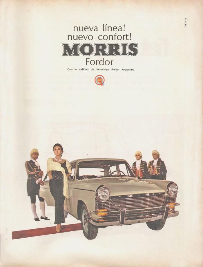 Publicidad Morris Fordor 1966