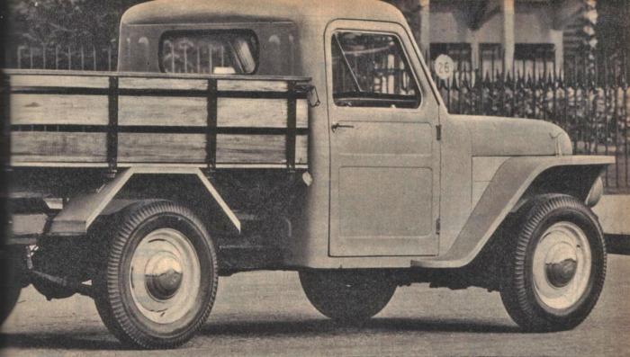 Rastrojero Diésel de 1963 visto desde el lado derecho. Foto de la revista Parabrisas número 37 de diciembre de 1963.