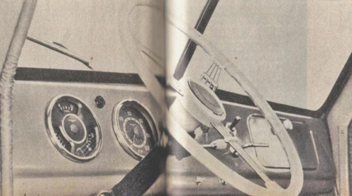 Tablero del Rastrojero Diésel de 1963. Foto de la revista Parabrisas número 37 de diciembre de 1963.