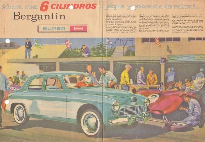 Publicidad Bergantín 6 cilindros