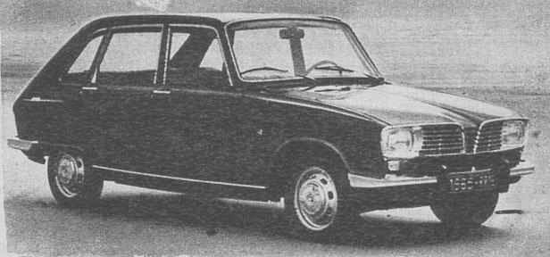 El perfil derecho del Renault 16 de 1965 presentado en junio de ese año por la empresa Régie Nationale des Usines Renault. La fotografía es de la revista Automundo número 43 del 2 de marzo de 1966.