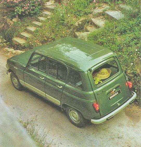 Renault 4 S modelo 1981 visto de ¾ de perfil izquierdo. Fotografía de un folleto de la empresa Renault Argentina.