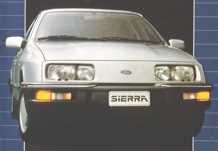 Ford Sierra Ghia de 1984. Foto de un folleto de Ford Motor Argentina.