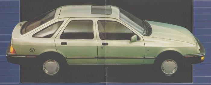 Ford Sierra Ghia de 1984 de perfil. Foto de un folleto de Ford Motor Argentina.