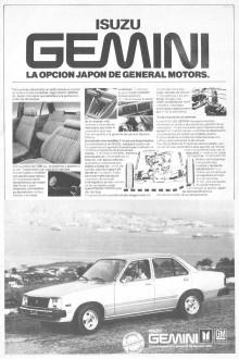 Publicidad Isuzu Gemini 1980
