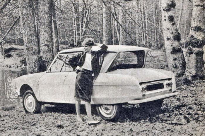 Citroën Ami 6 del año 1961. La fotografía es de la revista Parabrisas número 9 del mes de julio de 1961.