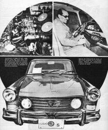 De izquierda a derecha y de arriba hacia abajo: el motor del Peugeot 404 AG S, Alberto Gómez al mando del 404 y la trompa del 404 AG S. Las fotos son una gentileza de Viejas Automundo.