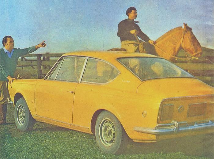 Fiat 1600 Sport del año 1970. Fotografía tomada de una publicidad de la revista Autoclub 55 de noviembre-diciembre de 1970.
