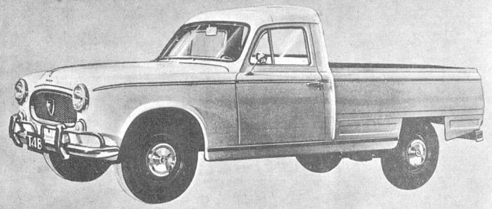 Peugeot T4B del año 1967. Fotografía tomada de una publicidad de la revista Análisis del 20 de noviembre de 1967.