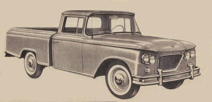 Adelmo pick-up del año 1963. Dibujo tomado de una publicidad de la revista Parabrisas 30 de mayo de 1963.