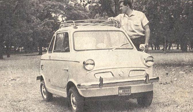 Dinarg D-200 del año 1963. Fotografía tomada de una publicidad de la revista Parabrisas número 29 de abril de 1963.