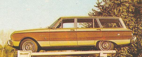 Ford Falcon Rural del año 1968. Fotografía tomada de una publicidad de la revista Primera Plana número 294 del 13 al 19 de agosto de 1968.