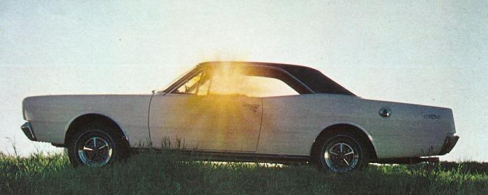 Dodge GTX del año 1970. Fotografía tomada de una publicidad de la revista Panorama número 183 del 27 de octubre al 2 de noviembre de 1970.