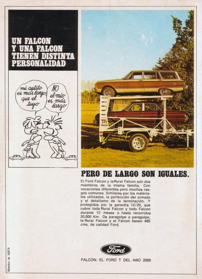 Publicidad Ford Falcon Rural 1968