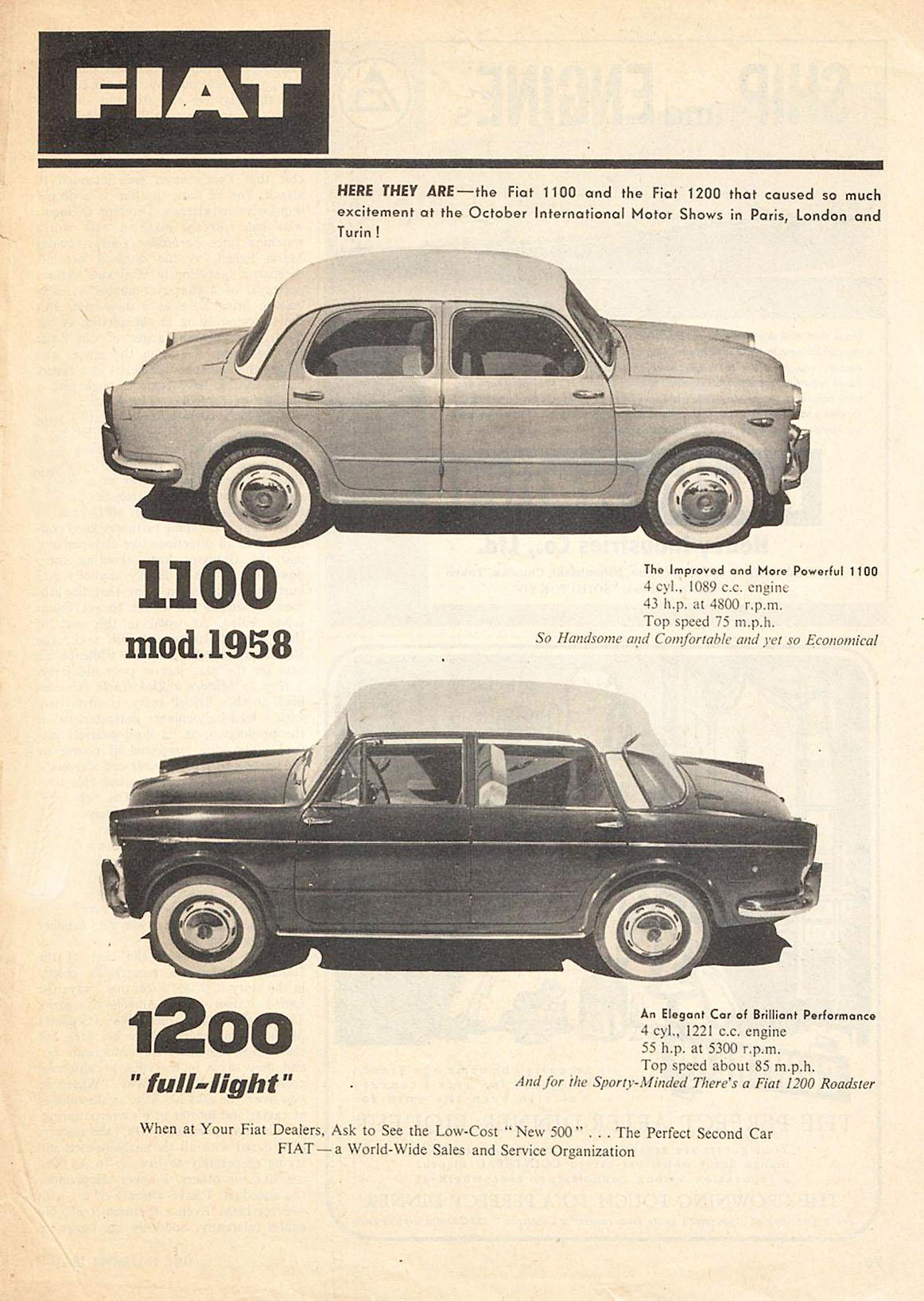 Los Fiat 1100 y 1200   Archivo...
