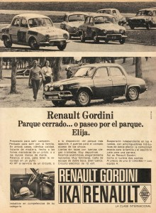 Publicidad Renault Gordini PC 186 11-17 nov1969