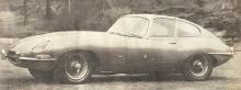 Jaguar Type E del año 1961 en su versión cupé. Fotografía de la revista Parabrisas número 10 de agosto de 1961.