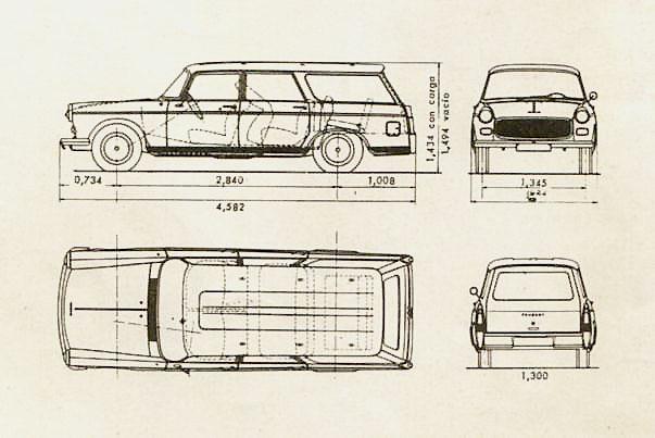 Peugeot 404 Rural 1963
