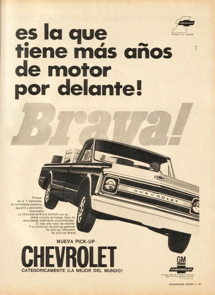 Publicidad Chevrolet Brava PC 186 11-17 nov1969