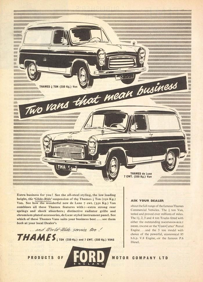 Publicidad Ford Thames 1956