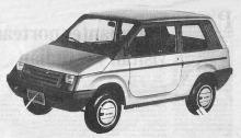 Gurgel BR-800 del año 1988 diseñado y producido en Brasil. La fotografía es del diario El Cronista Comercial del día 19 de diciembre de 1988.