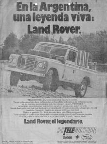 Publicidad Land Rover Santana 1980