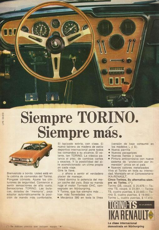 Publicidad tablero Torino Jurisprudencia Argentina 22 jul 1970