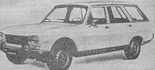 Peugeot 504 Break Familiar del año 1980 fabricada en Argentina por SAFRAR. La fotografía es del diario La Nación del 23 de junio de 1980.