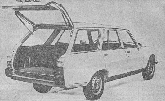 La parte trasera de la Peugeot 504 Break Familiar del año 1980 en su versión argentina. La fotografía es del diario La Nación del 23 de junio de 1980.