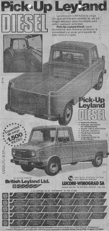 Publicidad Pick Up Leyland 1981